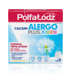 Calcium Alergo Plus Junior Laboratoria Polfa Łódź 16 tabl. musuj.