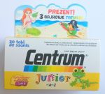 Centrum Junior A-Z 30 tabl. do ssania  + tatuaże